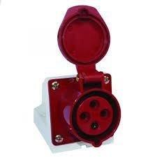 Розетка стаціонарна зовнішня 114 16А 380-415 В 4 контакта 3P+E червоний