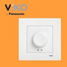 Светорегулятор 1000W RL поворотный VIKO Karre Белый