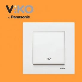 Перемикач перехресний VIKO Karre білий