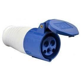 Розетка переносна 213 16А 220-250 В 3 контакта 2P+E IP44 синій