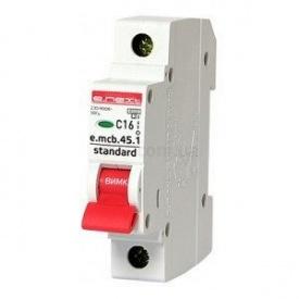 Модульный автоматический выключатель e.mcb.stand.45.1.C1 1р 10А С 4,5 кА