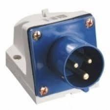 Вилка стационарная 513 16А 220-250В 3 контакта 2P+E IP44 синий