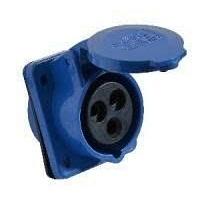 Розетка стаціонарних систем внутрішня 413 16А 220-250 В 3 контакти 2P+E IP44 синій