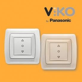 Кнопковий перемикач управління жалюзі VIKO Carmen