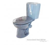 Унитаз-компакт Керамин Омега с жестким сиденьем графит