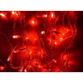 Новорічна гірлянда фасадна Ecolend Дощ 4 × 0,6 м червона IP44 для вулиці під навісом (Ш406К)