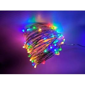 Світлодіодна гірлянда-нитка Ecolend 10 метрів 12 вольт RGBY IP44 для вулиці під навісом (Н1012ВРГБ)