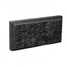 Блок Західтрансбуд Колотый камень облицовочный 95х190х90 мм графит