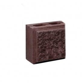 Блок Західтрансбуд Колотый камень половинка односторонний 190х90х90 мм коричневый