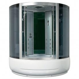 Гидробокс Miracle F40-3 с электроникой 135х135 см профиль сатин стекло серое