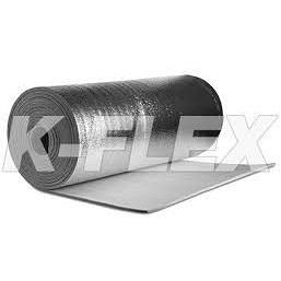 Листовая рулонная теплоизоляция самоклейка K-Flex РЕ METAL AD 10мм х1000х10 вспененный полиэтилен
