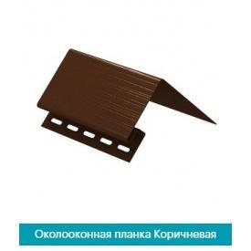 Околооконный профиль U-Plast коричневый 3,05х0,075х0,138м
