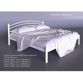 Двоспальне ліжко Маранта Tenero 1400х2000 мм біла металева