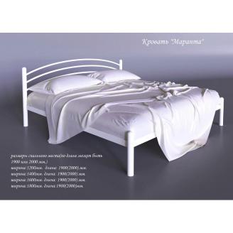Металлическая кровать Маранта Tenero 1600х2000 мм белая