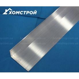 Уголок алюминиевый 30х50х2 без покрытия
