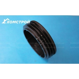 Заглушка черная круглая внутренняя диаметр 108 мм