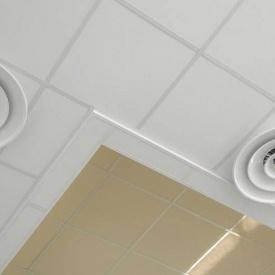 Акустическая влагостойкая белая гладкая потолочная плита Rockfon Pacific 600x600x12 мм