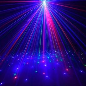 Уличный лазерный проектор Ecolend RGB красные синие и зеленые точки IP65 (УП333)