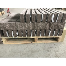 Плитка облицовочная цокольная Скала 250х120х22 мм Коричневая