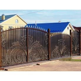 Ворота ковані Код-0167 ДЕШЕВА КОВКА