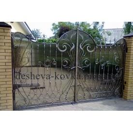 Ковані ворота з полікарбонатом