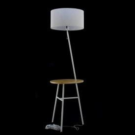 Торшер белый со столиком 553/1F WT