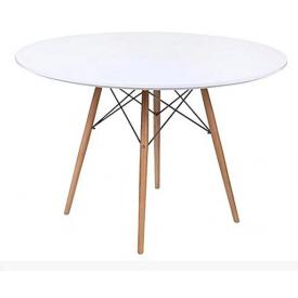 Круглий стіл Тауер Вуд SDM 740х1200 мм білий