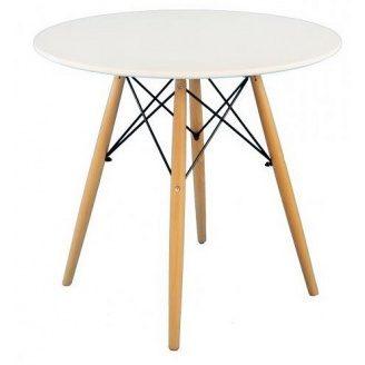 Круглий стіл Тауер Вуд SDM 800 мм білий