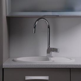 Овальная гранитная кухонная мойка Fancy Marble Yuta 102060001 белый
