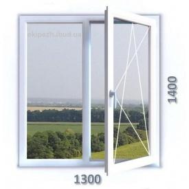 Окно из 6-камерного профиля WDS Ultra6 1300x1400 мм с однокамерным стеклопакетом
