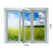 Вікно з 7-камерного профілю WDS Ultra7 1700x1400 мм з двокамерним енергозберігаючим склопакетом 40 мм
