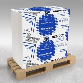 Пінопласт для утеплення будинку ПСБС 25 ГОСТ 100мм 15,5 кг/м3