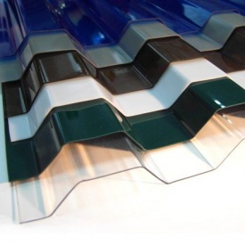 Профилированный монолитный поликарбонат Borrex 6x1,05 м зеленый