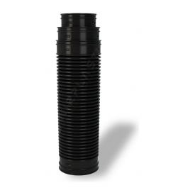 Переходник для вентиляционных выходов Wirplast Ruroflex U61 150x600 мм черный RAL 9005