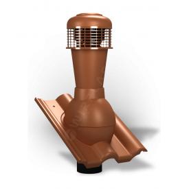 Вентиляционный выход Wirplast Tile К62 110x500 мм кирпичный RAL 8004