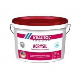 Краска фасадная силиконовая KRAUTOL Acrylsil В3 9,4LT прозрачная (893544)