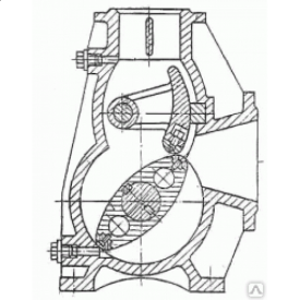 Насос роторний РН18 без редуктора на рамі 5,5 кВт