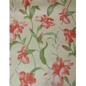 Паперові шпалери Шарм прості 134-05 Джулія червоні квіти 0,53х10,05м