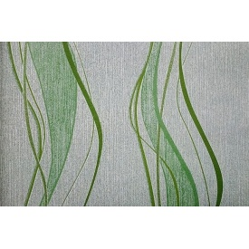 Бумажные обои Шарм 107-30 Перфетто зеленые 0,53х10,05 м