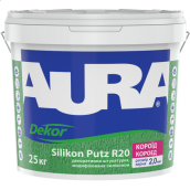 Штукатурка декоративная Aura Dekor Silikon Putz R20 короед 25 кг