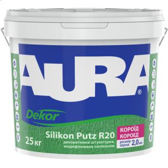 Штукатурка декоративна Aura Dekor Silikon Putz R20 короїд 25 кг
