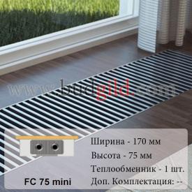 Внутрипольный конвектор FC 75 mini 1000 мм