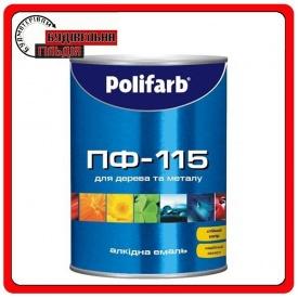 Алкидная эмаль Polifarb ПФ-115 Орех светлый 2,7 кг