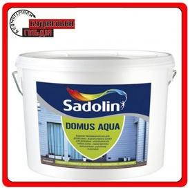Водорастворимая краска для древесины DOMUS AQUA Sadolin белая 10л