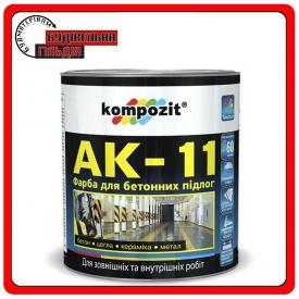 Краска для бетонных полов АК-11 Белая 2,8 кг