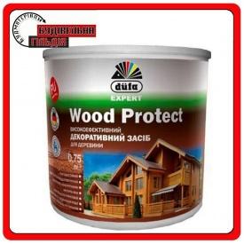 Dufa Высокоэффективное декоративное средство для дерева Wood Protect белый 0,75 л