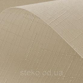 Рулонні штори Льон 881 білий 500/1650 відкрита