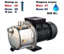 Насос центробежный самовсасывающий JSS 750 Sprut 45/28 м 30-47 л/мин 220 В 750 Вт