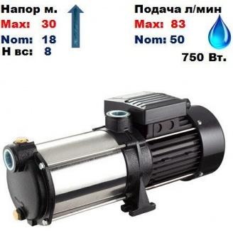 Насос центробежный многоступенчатый MRS-S3 Sprut 30/18 м 50-83 л/мин 220 В 750 Вт