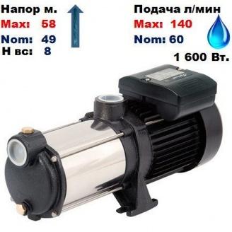 Насос центробежный многоступенчатый MRS-H5 Sprut 58/49 м 60-140 л/мин 220 В 1600 Вт